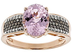 Pink Kunzite 18k Rose Gold Over Silver Ring 3.25ctw