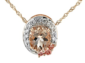 Pink Morganite 10k Rose Gold Pendant With Chain 1.70ctw