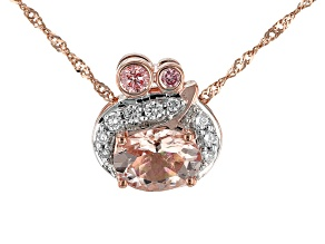 Pink Morganite 10k Rose Gold Pendant With Chain 1.07ctw