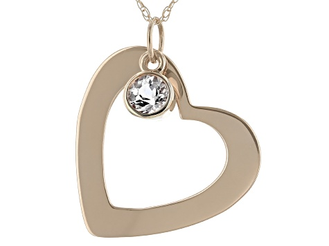 Pink Cor De Rosa Morganite 14k Rose Gold Heart Pendant With Chain. 0.60ct.