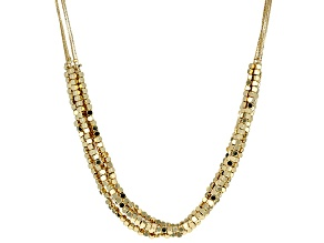 18k Yellow Gold Over Bronze 5-Strand Necklace
