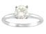 Moissanite 14k White Gold Solitaire Ring 1.20ct DEW