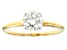 Moissanite 14k Yellow Gold Solitaire Ring 1.20ct DEW