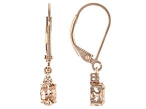 Pink Morganite 18k Rose Gold Over Silver Dangle Earrings 0.65ctw