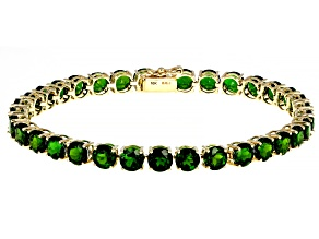 Green Chrome Diopside 10K Yellow Gold Bracelet 15.24ctw