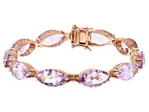 Lavender Amethyst 18k Rose Gold Over Sterling Silver Tennis Bracelet 37.40ctw