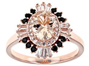 Pink Morganite 18K Rose Gold Over Sterling Silver Ring 1.15ctw