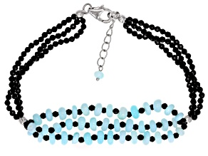 Sky Blue Opal Rhodium Over Sterling Silver Bracelet