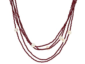 Red Garnet Beaded Necklace