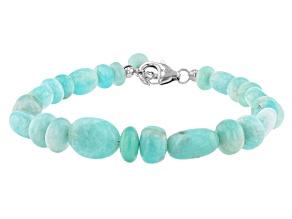 Amazonite Rhodium Sterling Silver Bracelet