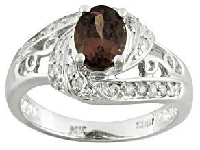 Color change garnet 14k white gold ring 1.79ctw