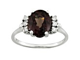 Color change garnet 14k white gold ring 3.46ctw