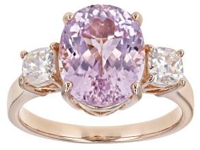 Pink Kunzite 18k Rose Gold Over Sterling Silver ring 4.49ctw