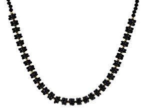Black Spinel 18K Yellow Gold Over Sterling Silver Necklace