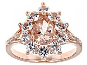 Pink Morganite 18k Rose Gold Over Sterling Silver Ring 1.88ctw