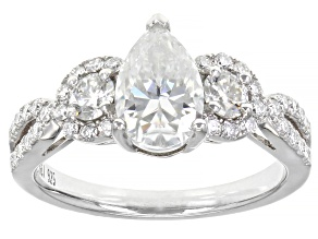 Moissanite Platineve Engagement Ring 2.16ctw DEW.