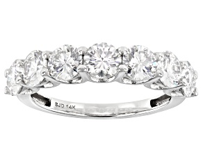 Moissanite 14k White Gold Ring 2.31ctw DEW.