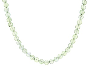 Green prehnite rhodium over silver necklace