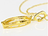 Yellow golden citrine 18k gold over silver enhancer with chain 10.66ctw