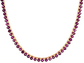 Raspberry color raspberry color rhodolite 18k rose gold over silver necklace 29.75ctw