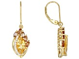 Yellow Citrine 18k Gold Over Silver Earrings 2.69ctw