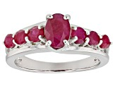 Red Ruby Rhodium Over Silver Ring 1.71ctw