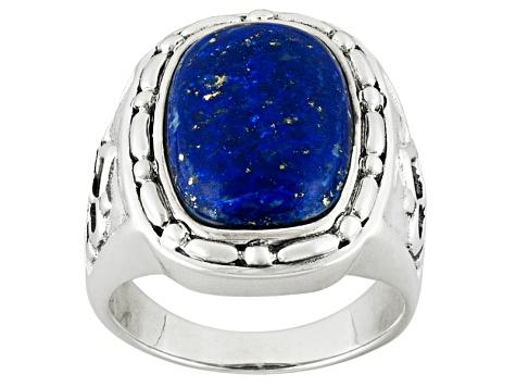 7765f602b99af Blue Lapis Lazuli Sterling Silver Mens Ring