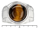 Tigers Eye Sterling Silver Mens Ring