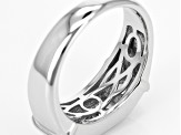 White Zircon Sterling Silver Mens Ring 1.60ctw.