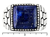 Blue Lapis Sterling Silver Mens Ring
