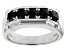 Black Spinel Rhodium Over Sterling Silver Gent's Wedding Band Ring 1.20ctw
