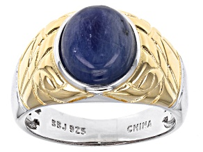 Blue Kyanite Sterling Silver Mens Ring