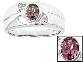 Color Shift Garnet Sterling Silver Ring .89ctw