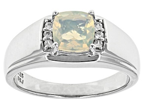 Ethiopian Opal Sterling Silver Men's Ring .91ctw