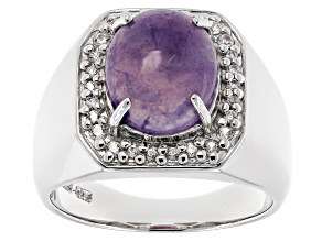 Purple Morado Opal Sterling Silver Ring .25ctw