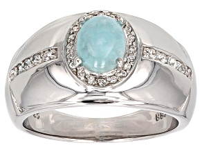 Blue Hemimorphite Sterling Silver Ring  .26ctw