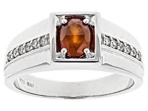 Orange Hessonite Sterling Silver Ring 1.03ctw