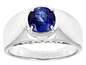 Blue Kyanite Silver Gents Ring 2.00ct