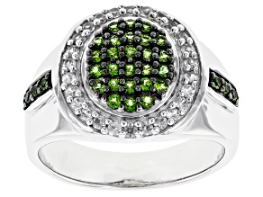 Green Chrome Diopside Rhodiium Over Silver Ring 1.00ctw