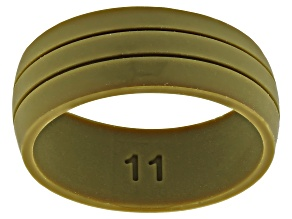 Green Silicone Mens Band Ring
