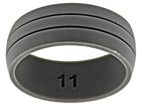 Gray Silicone Mens Band Ring