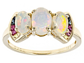Ethiopian Opal 10k Yellow Gold Ring 1.27ctw