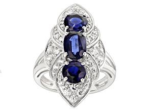 Blue Kyanite 10k White Gold Ring 4.06ctw