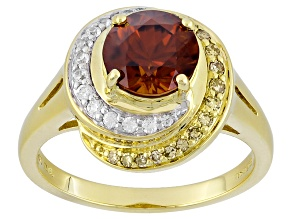 Sienna Zircon 10k Yellow Gold Ring 2.34ctw
