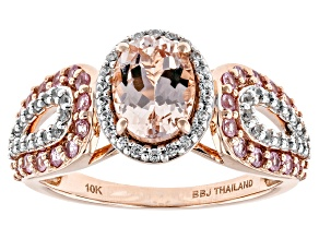 Pink Morganite 10k Rose Gold Ring 1.76ctw