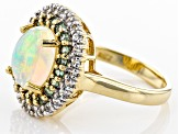 Ethiopian Opal 10k Yellow Gold Ring 2.35ctw