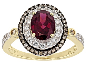 Picture of Purple Grape Color Garnet 10k Yellow Gold Ring 1.72ctw