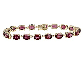Purple Garnet 10k Yellow Gold Bracelet 14.15ctw