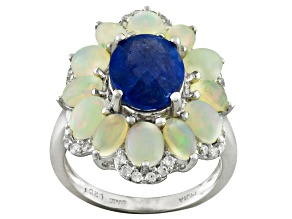 Blue Tanzanite Silver Ring 5.42ctw