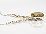 Golden Rutilated Quartz Sterling Silver Necklace 14.19ctw